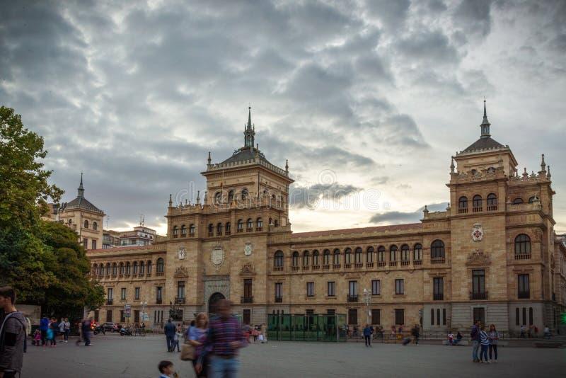 Wizerunki dziejowy miasto w centrum Hiszpania obrazy stock