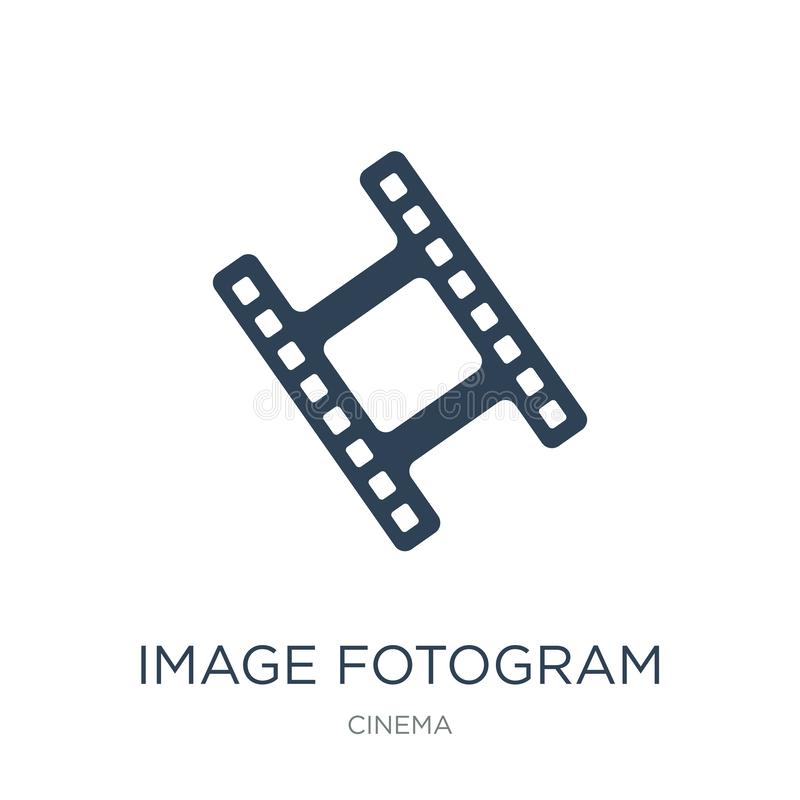 wizerunku fotograma ikona w modnym projekta stylu wizerunku fotograma ikona odizolowywająca na białym tle wizerunku fotograma wek royalty ilustracja