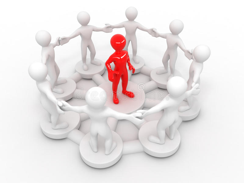wizerunku konceptualny przywódctwo ilustracja wektor
