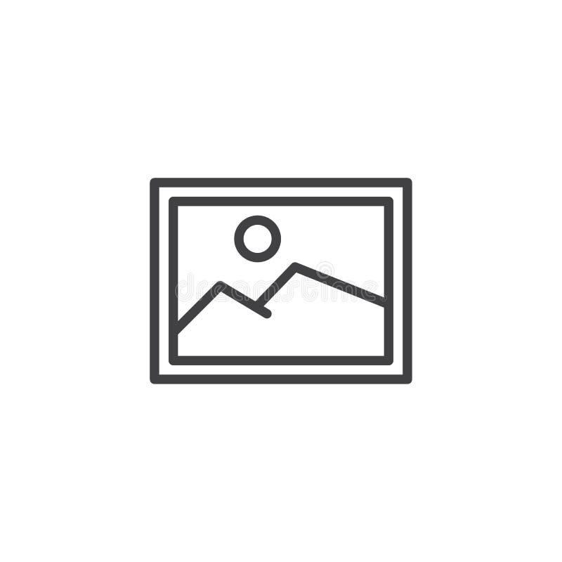 Wizerunku konturu ikona ilustracja wektor
