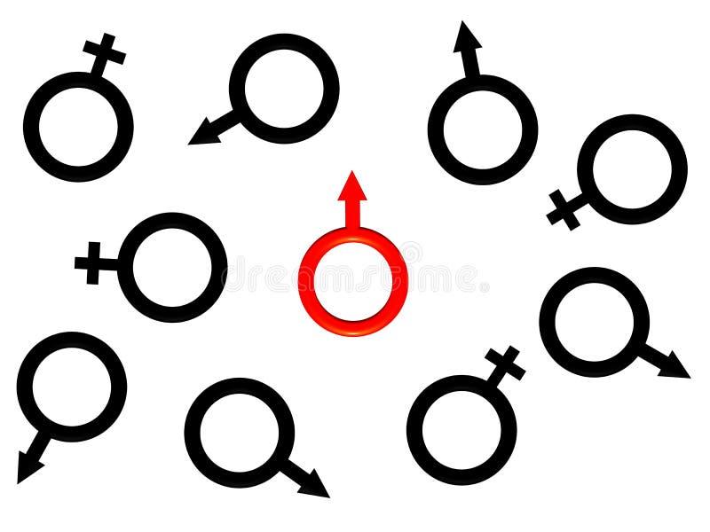 wizerunku mężczyzna jeden czerwony s symbol ilustracja wektor