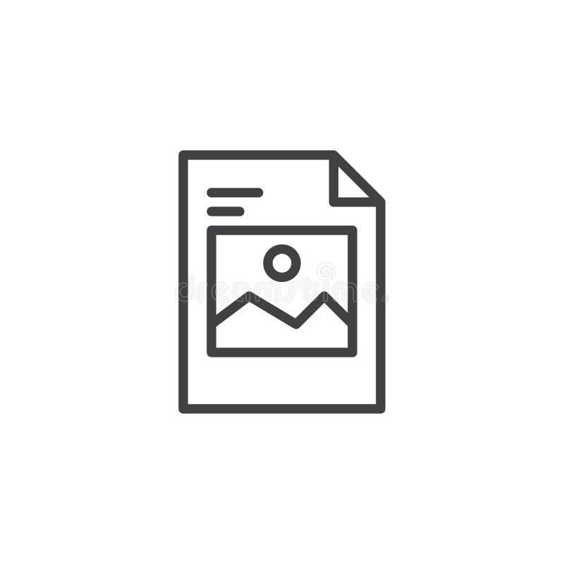 Wizerunku obrazka kartoteki konturu ikona royalty ilustracja