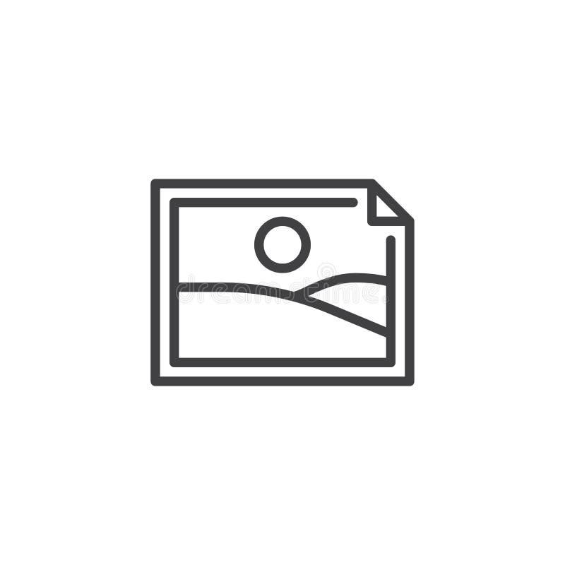 Wizerunku obrazka linii ikona ilustracja wektor