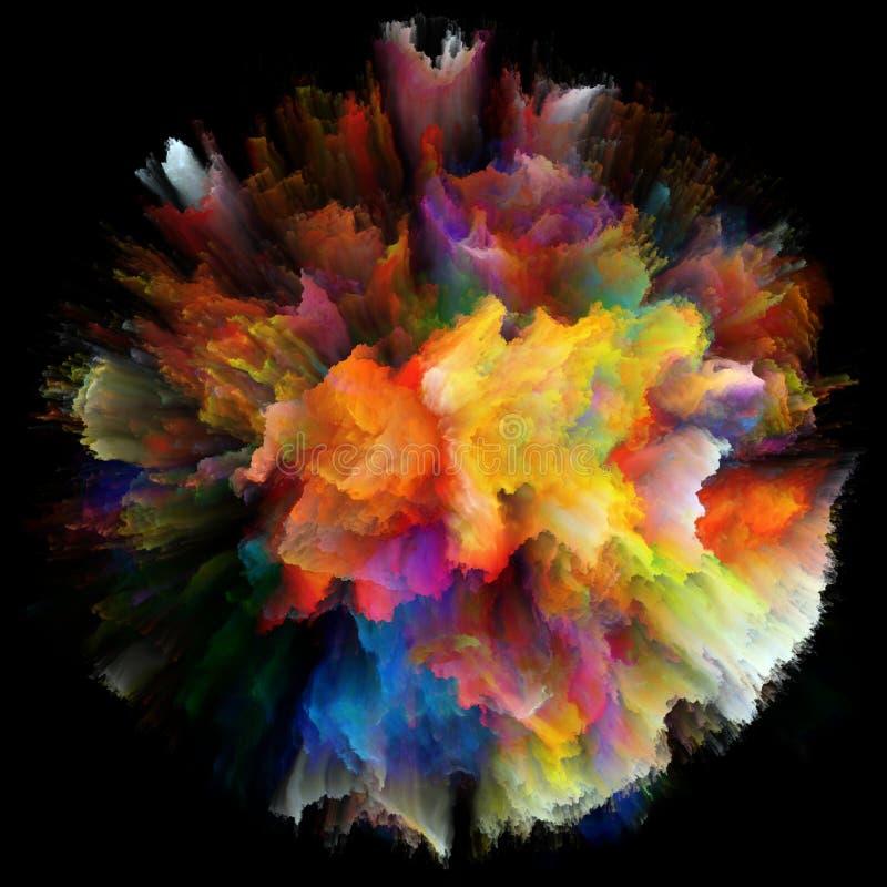 Wizualizacja Kolorowy farby pluśnięcia wybuch ilustracji