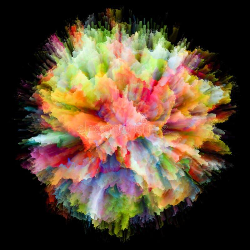 Wizualizacja Kolorowy farby pluśnięcia wybuch ilustracja wektor