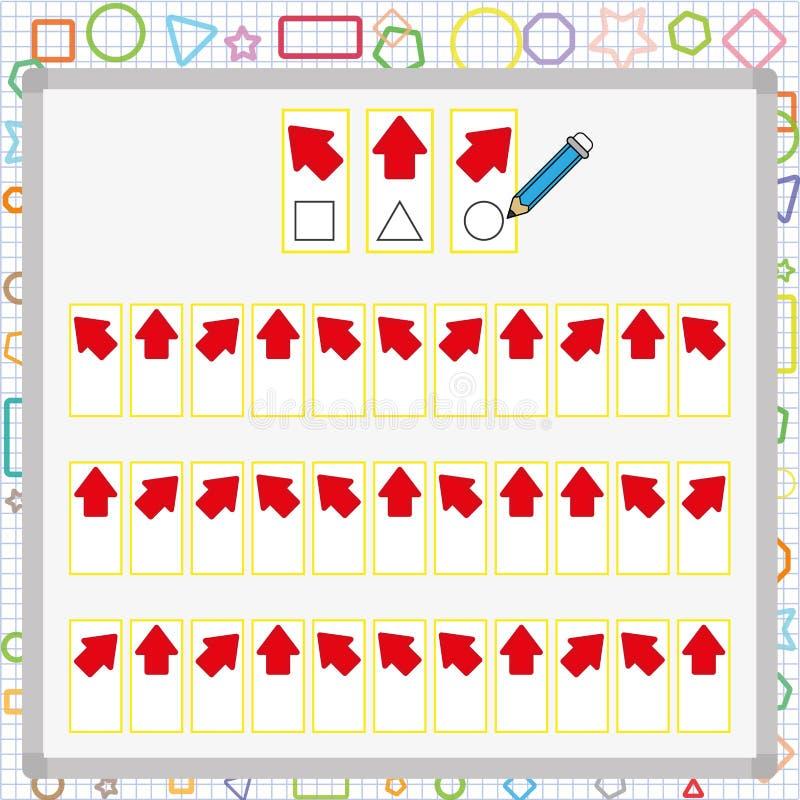 wizualnego postrzegania gra postrzeganie gra dla dziecka, uwaga rozwoju praca dla uczni royalty ilustracja