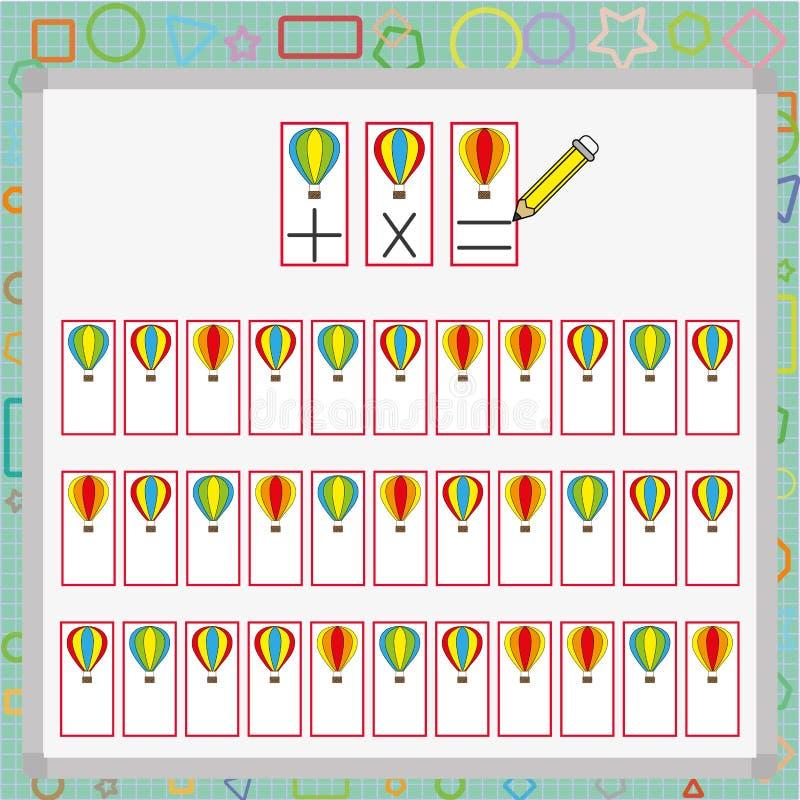 wizualnego postrzegania gra postrzeganie gra dla dziecka, uwaga rozwoju praca dla uczni ilustracja wektor