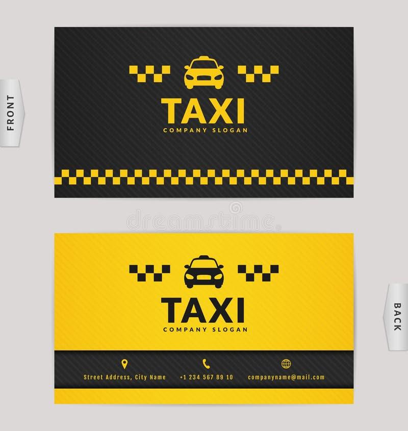 Wizytówka Dla Taxi Firmy Ilustracja Wektor Ilustracja