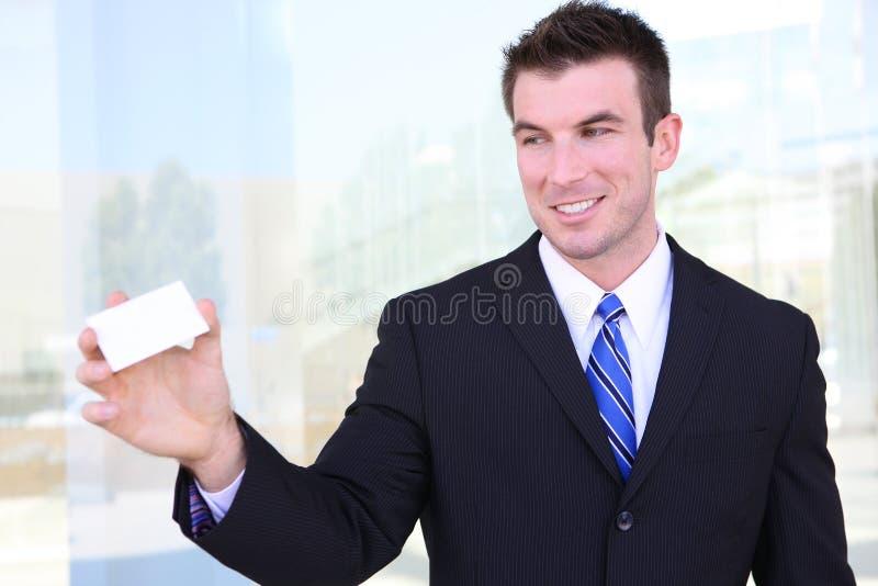 wizytówka mężczyzna zdjęcia royalty free