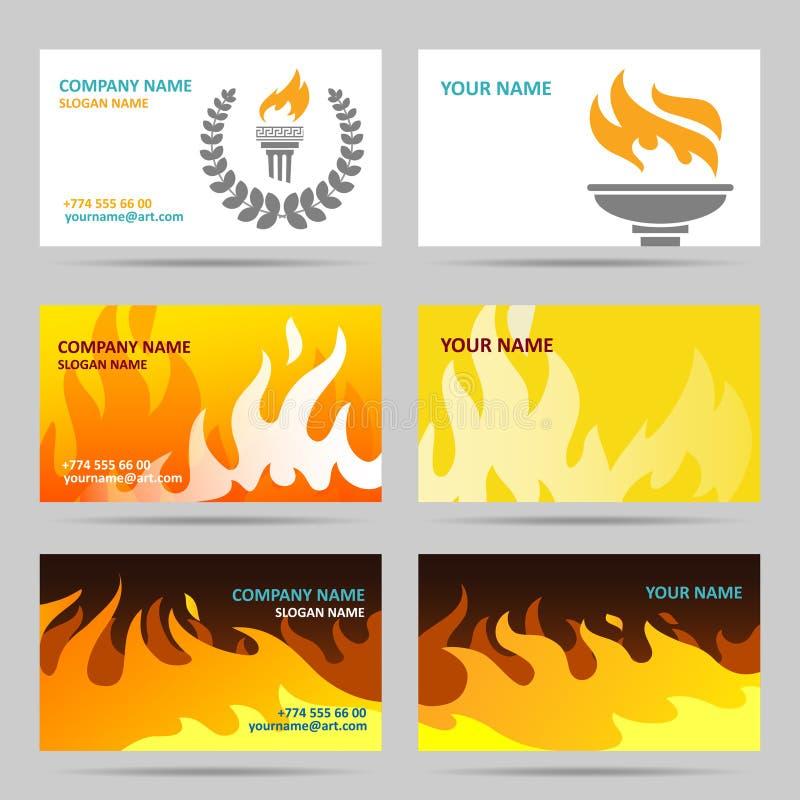 Wizytówka ogień ilustracji