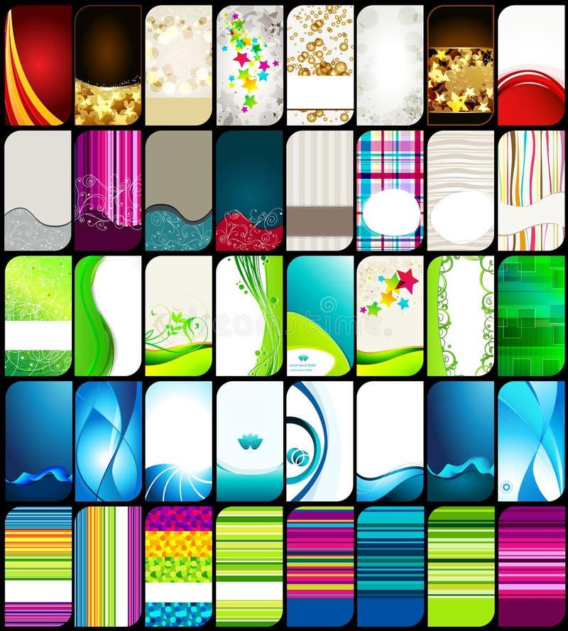 wizytówka set kolorowy elegancki nowożytny ilustracja wektor