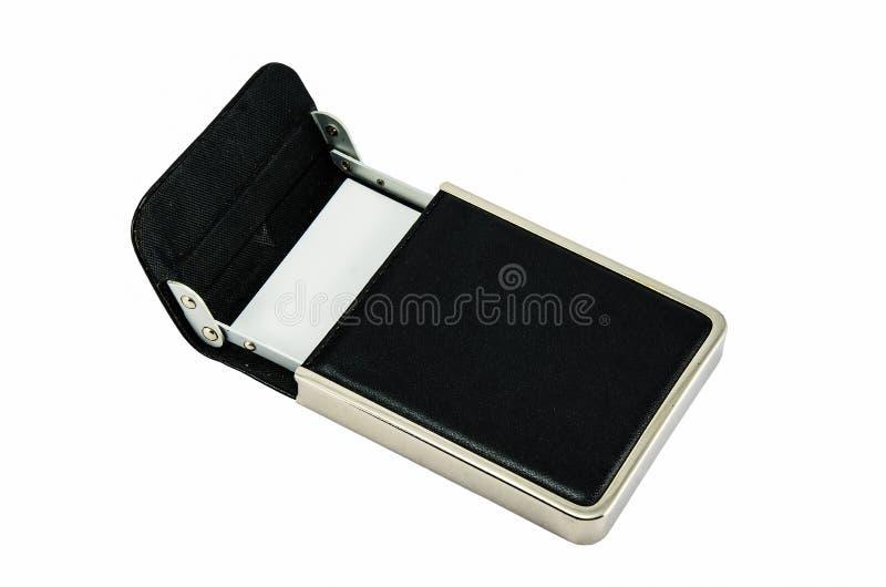 Wizytówka w rzemiennym pudełku obraz stock