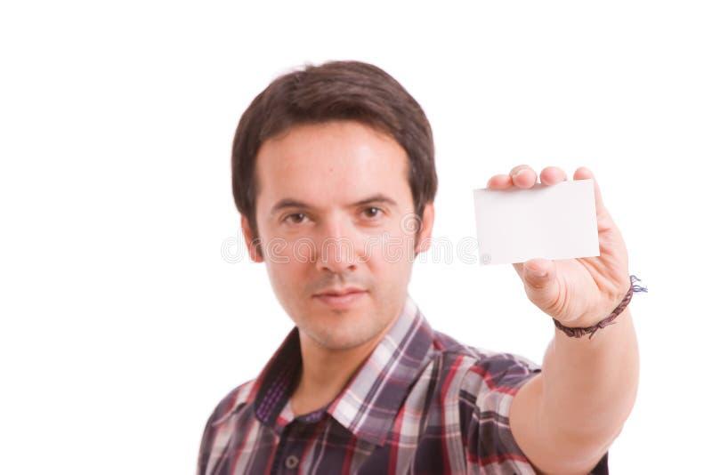 wizytówki mężczyzna ofiara zdjęcia royalty free