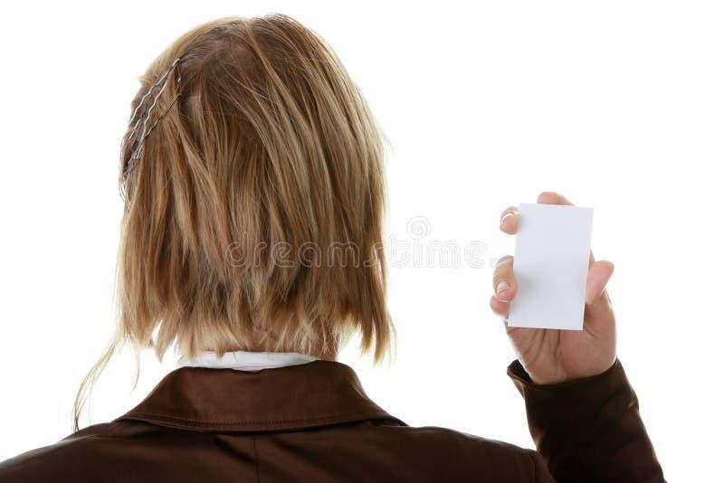 wizytówki pusta dama zdjęcia stock