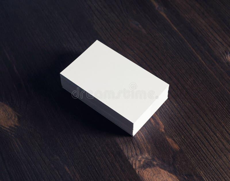 Sterta Drewniane Wizytówki Zdjęcie Stock Obraz Złożonej Z