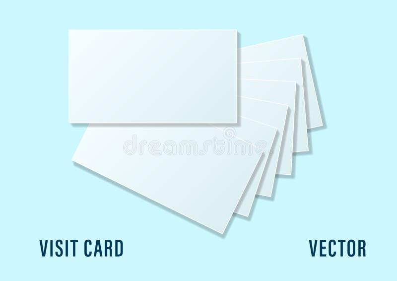 Wizytówki sterty szablon dla oznakować tożsamość odizolowywającą na tle ilustracja wektor