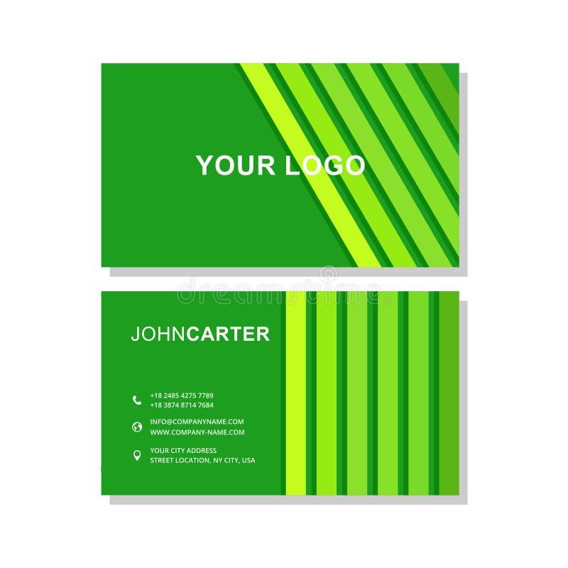 wizytówki zielony ilustraci wektor fotografia royalty free