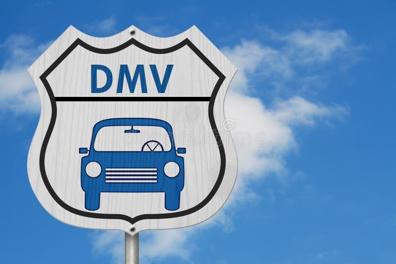 Wizyta DMV autostrady znak zdjęcie stock