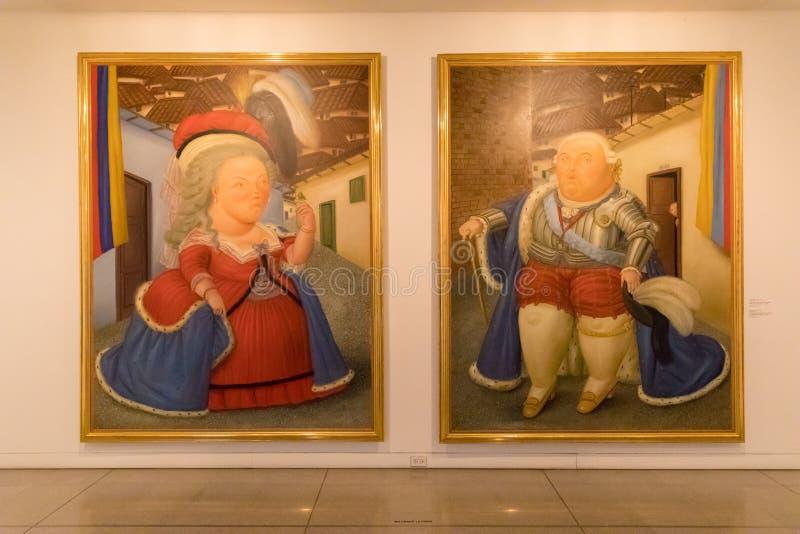Wizyta Louis XVI i Maria Antoinette Medellin Kolumbia zdjęcia royalty free