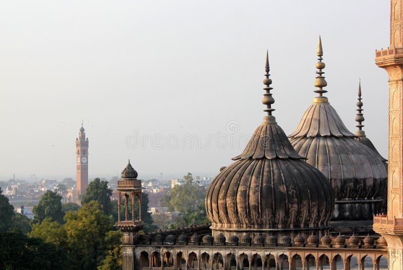 Wizyta Lucknow miasto Nawabs ma, bogatych dziedzictwo budynki i także współczesne struktury obraz royalty free