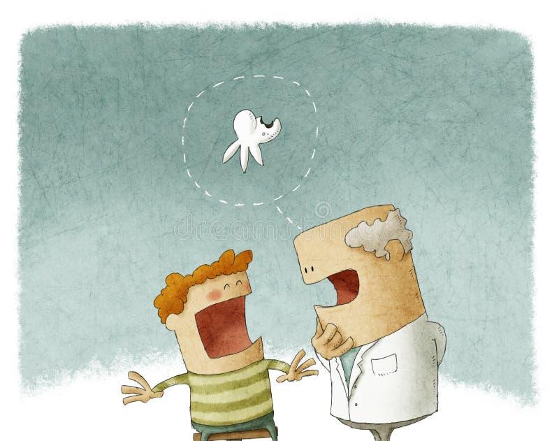 Wizyta przy dentystą royalty ilustracja