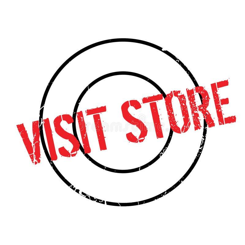 Wizyta sklepu pieczątka ilustracja wektor