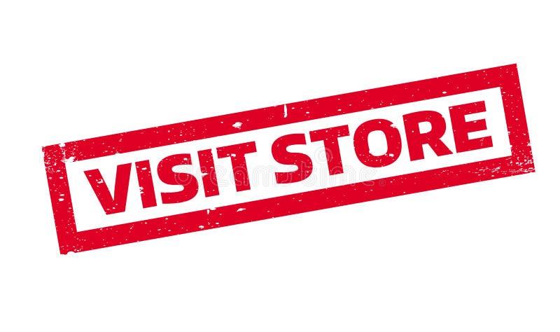 Wizyta sklepu pieczątka ilustracji