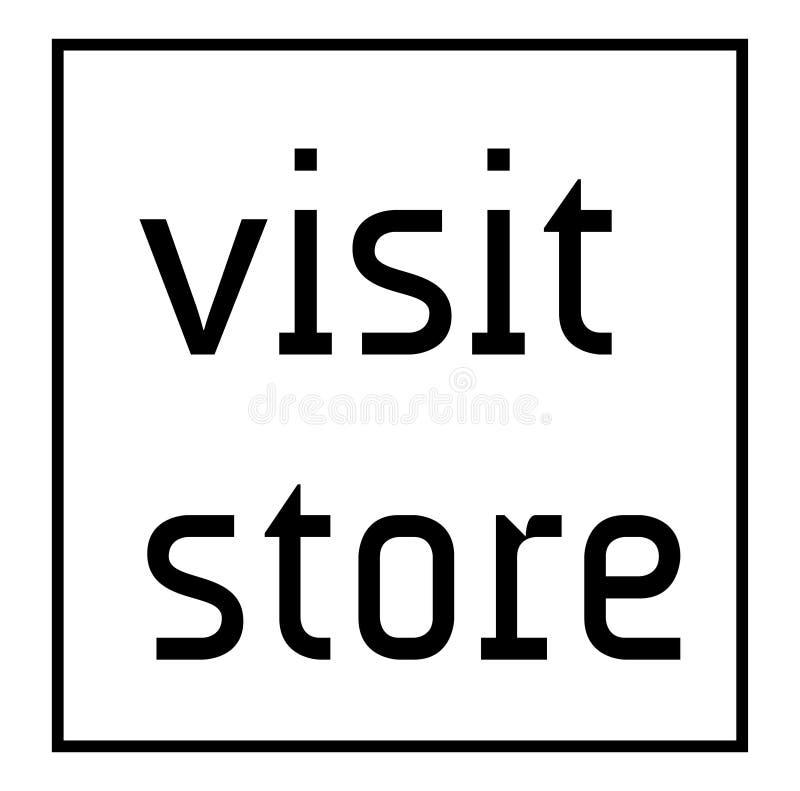 WIZYTA sklepu znaczek na białym tle ilustracja wektor