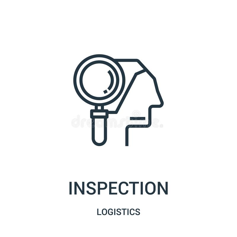 wizytacyjny ikona wektor od logistyki kolekcji Cienka kreskowa wizytacyjna kontur ikony wektoru ilustracja Liniowy symbol dla uży ilustracja wektor