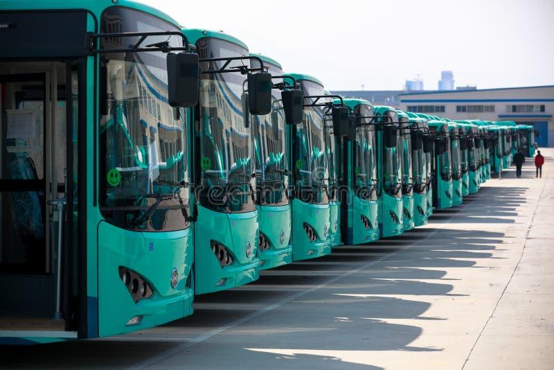 Wizyty BYD Autobusowa Rękodzielnicza fabryka w Chiny zdjęcie royalty free