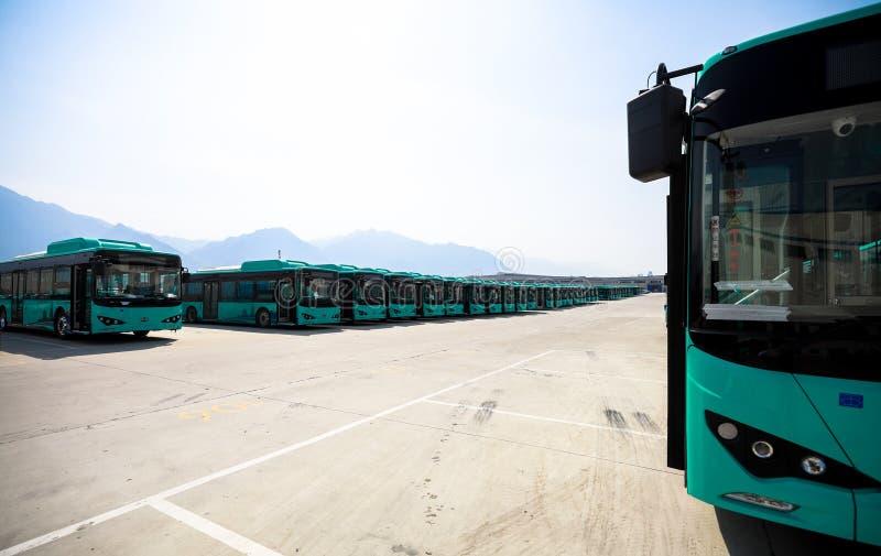 Wizyty BYD Autobusowa Rękodzielnicza fabryka w Chiny zdjęcie stock