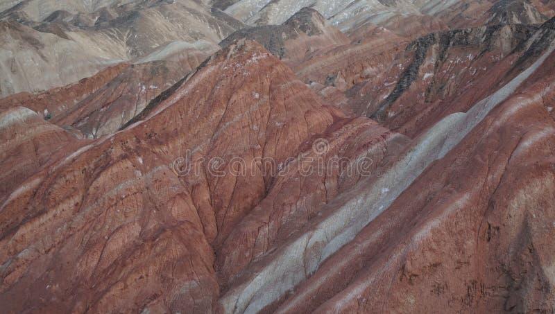 Wizyty Chiny Danxia kolorowi landforms zdjęcia stock