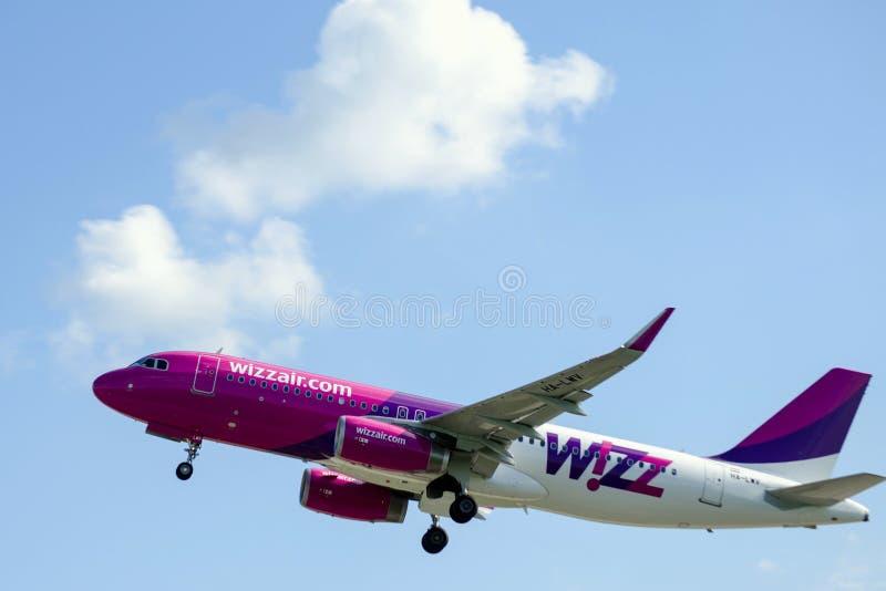 Wizz空气离开 库存图片
