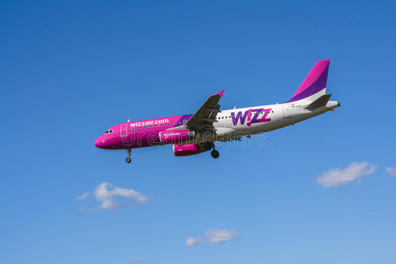 Wizz Air royaltyfri fotografi