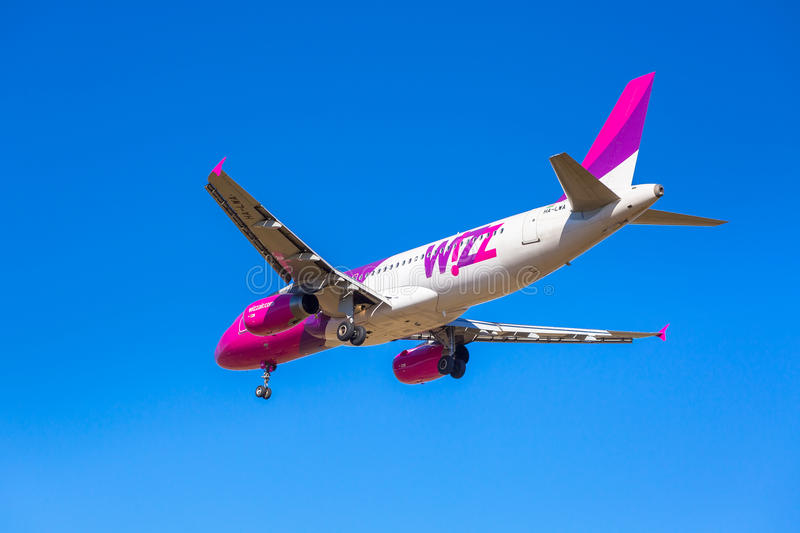 Wizz Air Aircraft Landing On The Airport Editorial Photography