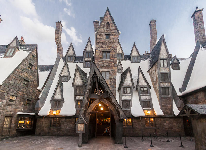 The Wizzarding World of Harry Potter. The amazing cinematographic village of the wizzarding world of Harry Potter in Universal Studios, Islands of Adventure stock photos