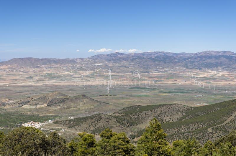 wjnd农场被看见的风景 西班牙 免版税库存照片