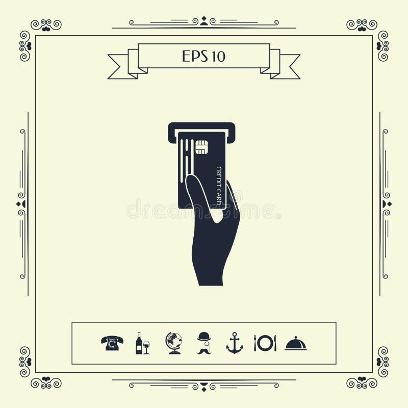 Wkładać kredytowej karty ikonę ilustracji