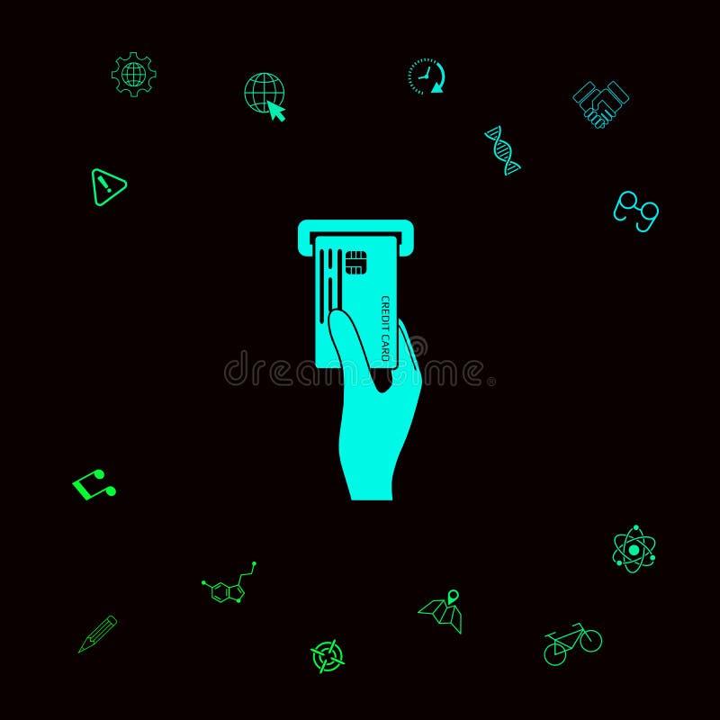 Wkładać kredytowej karty ikonę Graficzni elementy dla twój designt ilustracja wektor