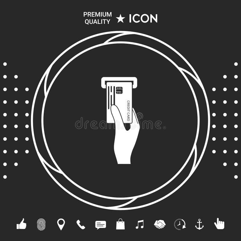 Wkładać kredytowej karty ikonę Graficzni elementy dla twój designt royalty ilustracja
