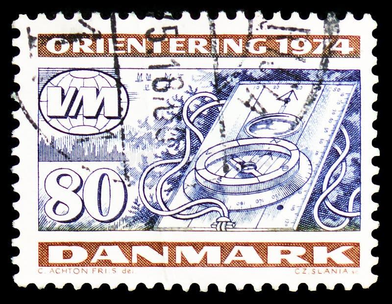 WK ориентируя, чемпионаты мира - serie Orienteering, около 1974 стоковые изображения rf