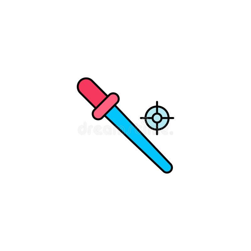 Wkraplacz ikony znaka narzędziowy płaski wektorowy symbol royalty ilustracja