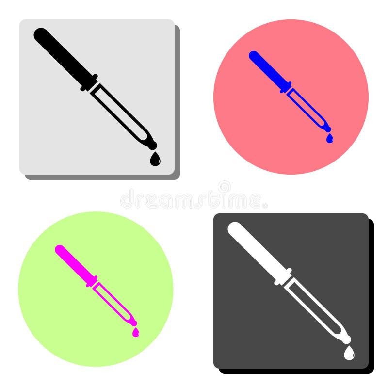 Wkraplacz pipeta Płaska wektorowa ikona ilustracja wektor