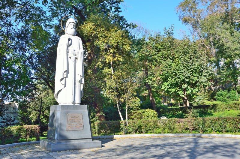 Wladiwostok, Monument zu Ilya Muromets, der erste Verteidiger der Grenzen von Russland stockfotos