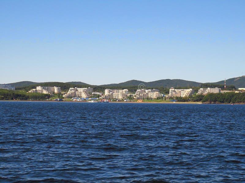 Wladiwostok, Primorsky kray/Russland - 8. September 2018: Fernöstliches Bundesuniversitätsgelände in Wladiwostok auf Russky-Insel stockfoto