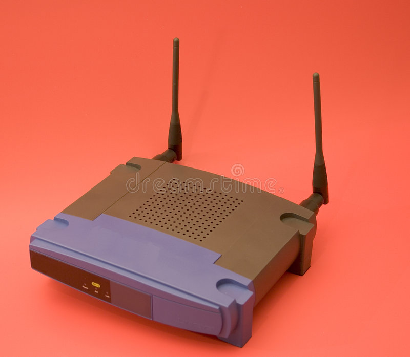 Wlan. Wireless lan equipment stock images