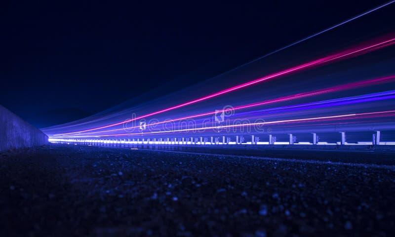 Wlec światła autostrada zdjęcie stock