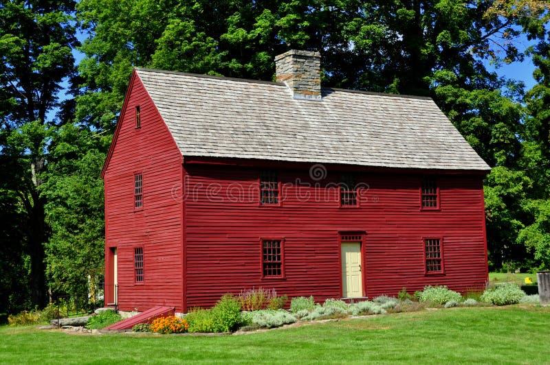 Wlodbury, CT: C Hurd House 1680 immagine stock libera da diritti