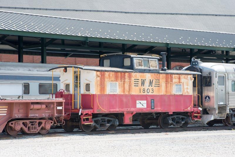 WM keine 1803 West-Maryland Eisenbahn-Kombüse stockfotos