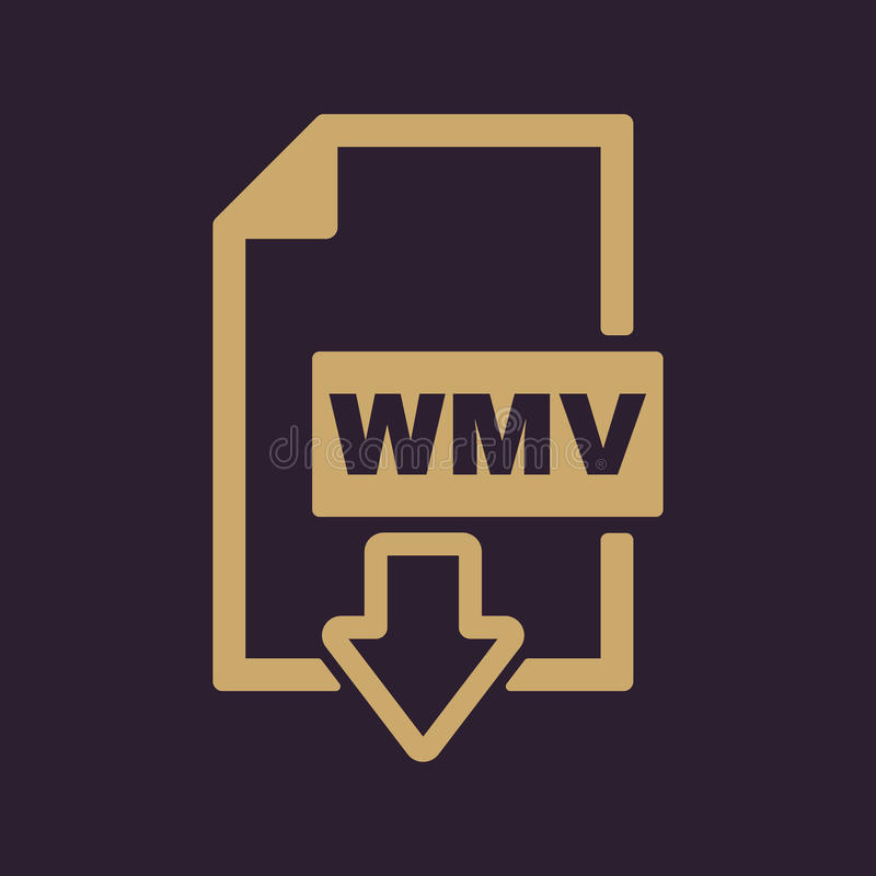 WMV象 视频文件格式标志 平面 库存例证